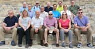 Employers, medics and 225 Regt personnel at Kourion