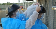 Employers put on protective clothing
