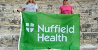 Sophie oates (left) and Liz MacLeod of Nuffield Health at Kourion