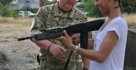 Israil Bryan (Skanska) gets to grips with an SA80