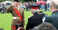 DM Saul Bruce receiving his Lord Lieutenants Cadet of Inverness from Lord Lieutenant (2)