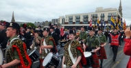 Massed Pipe Band crossing River Ness (2)