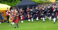 Pipe Band entering Northern Meeting Part at Inverness AFD