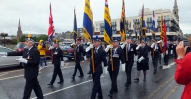 RBLS Colour Party crossing River Ness