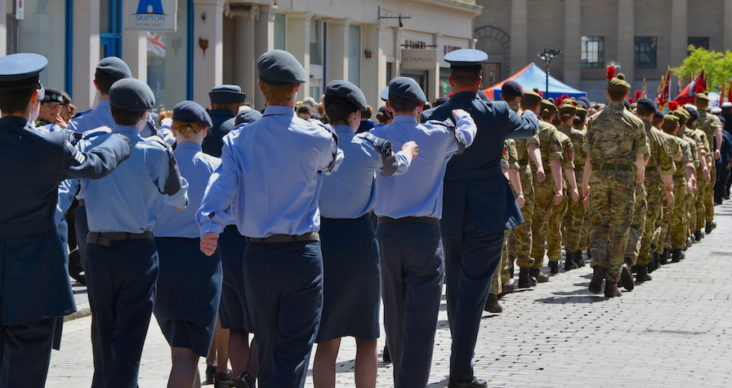 Cadets marching in Dundee
