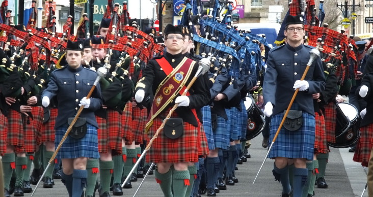 The Cadets march through Dingwall.