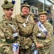 Cadets and Adults from Raigmore Detachment out collecting in Inverness City Centre.