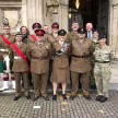 SSI Wells (rear row, far left) and UO Murphy (rear, 2nd right) with other ACF Representatives at Westminster Abbey