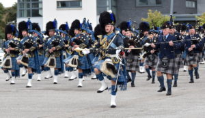 Pipes & Drums tune up for Balmoral - Highland Reserve Forces