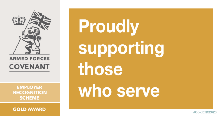 Proudly supporting those who serve Armed Forces Covenant graphic