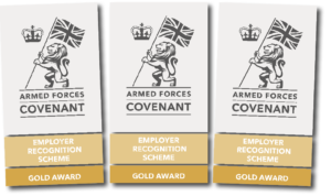 Armed Forces Covenant Employer Recognition Scheme Gold Award graphic