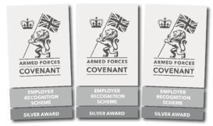 Armed Forces Covenant Employer Recognition Scheme Silver Award graphic