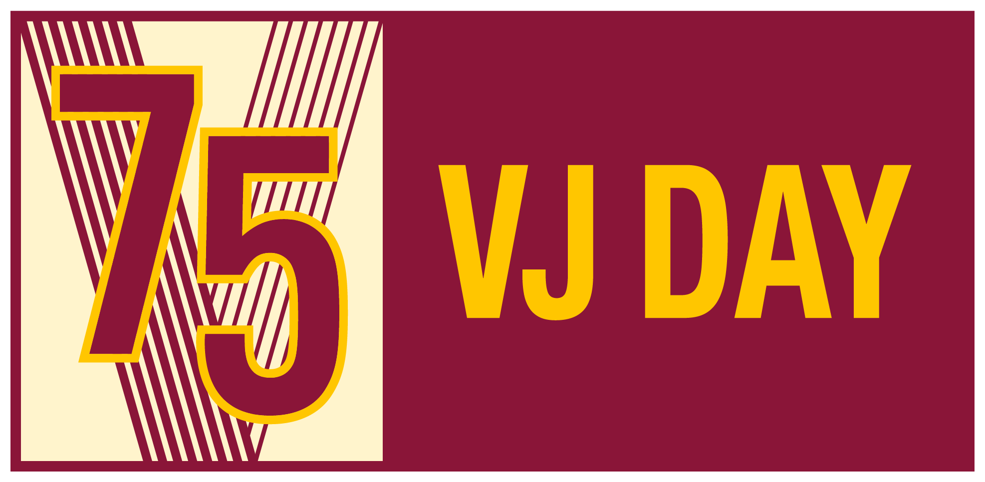 VJ Day 75 graphic