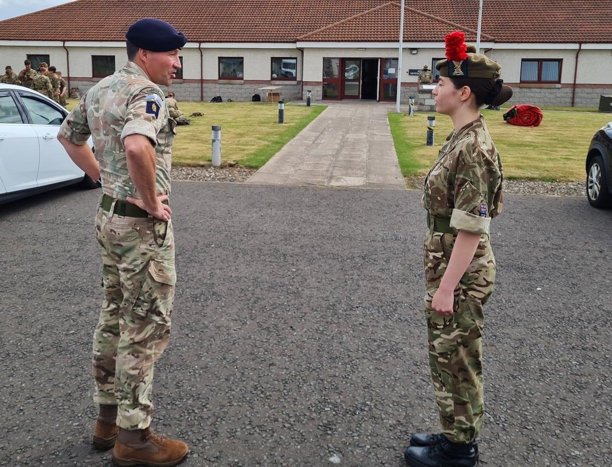 Major General and Cadet