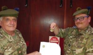 Presentation of Cadet Coin.